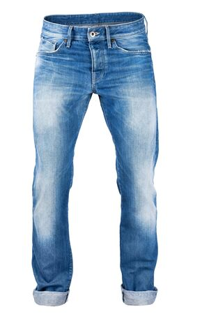 trouser: Jeans trouser isolated over white background