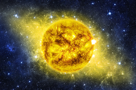 astronomie: Sun in the space. Elements of this image furnished by NASA