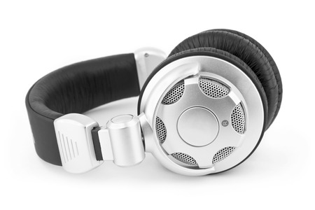 unbranded: Unbranded headphones on a white background Stock Photo