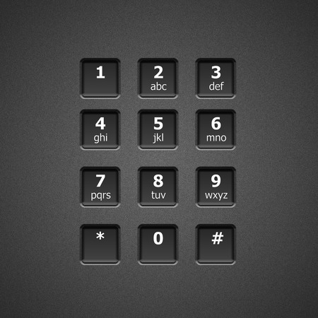 dial plate: Digital dial plate of security lock or telephone keypad Stock Photo