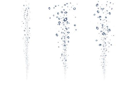 Water bubbles underwater background