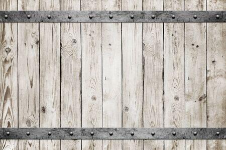 metal grunge: Wood with metal texture background