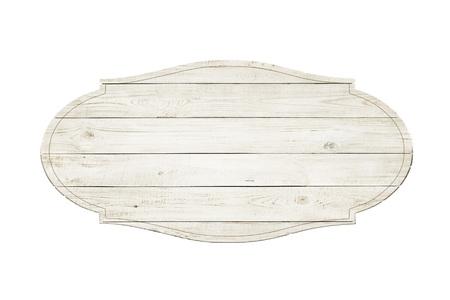 Drewniane znak samodzielnie na białym tle
