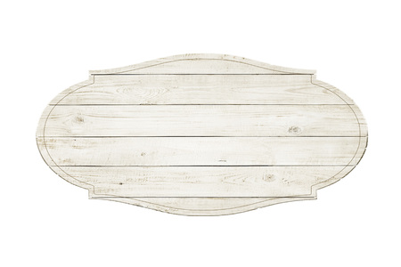 Wooden sign isolated over white background