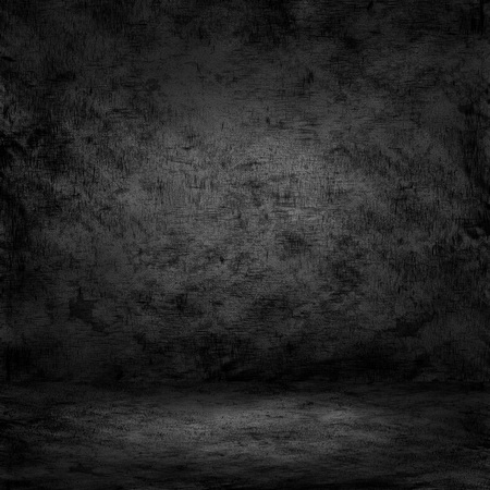 abandon: Dark room with tile floor and concerte wall background