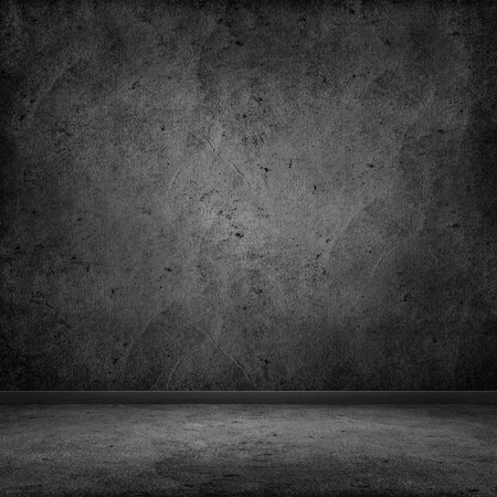 abandon: Dark room with tile floor and wall background Stock Photo