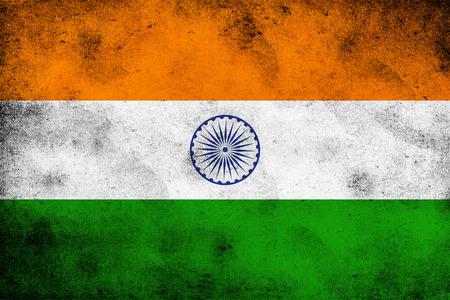 Grunge India flag background