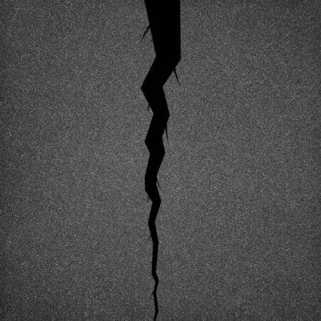 Cracked asphalt background Banco de Imagens - 81121659