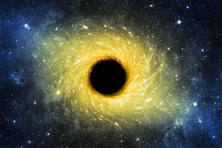 Black hole in space background. Elements of this image furnished by NASA