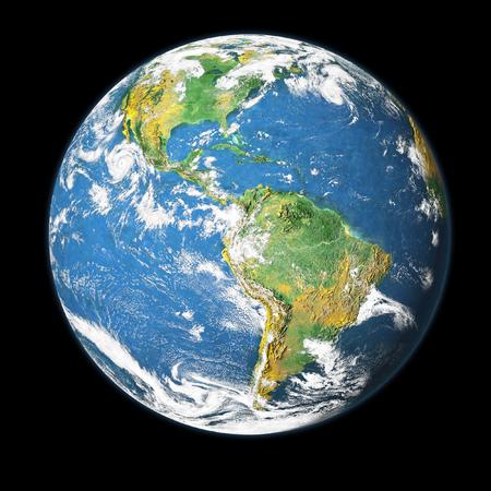 Earth globe isolated on black background. Stock fotó
