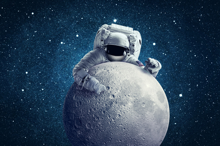 Astronaut in outer space. Conceptual image.