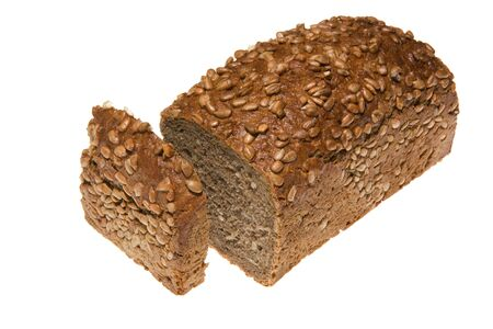 Brown bread isolated on white Stock Photo