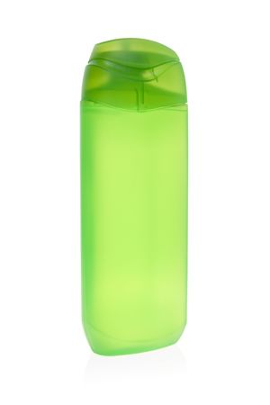 A bottle of green shower gel