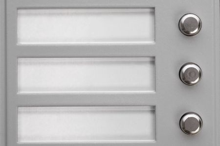 Doorbell buttons with blank names