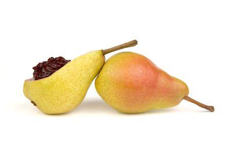 Pears and sweet cherry jam