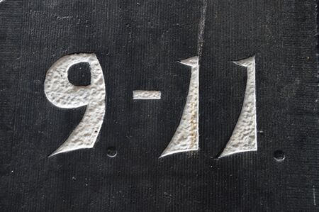 Black Stone With The Number 9-11