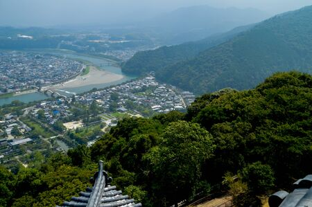 View At Iwakuni City Japan Stock Photo