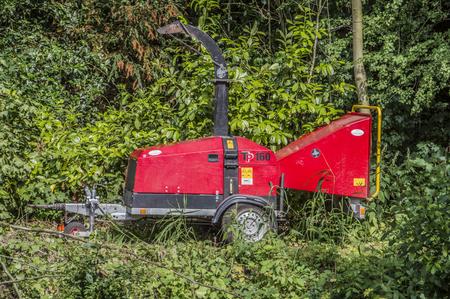 Tree Shredder At Amsterdam The Netherlands 2018 Stockfoto - 104527054