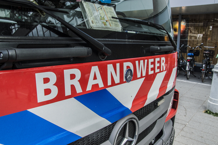 Bumper Of A Truck Of The Fire Department Of Amsterdam The Netherlands 2018