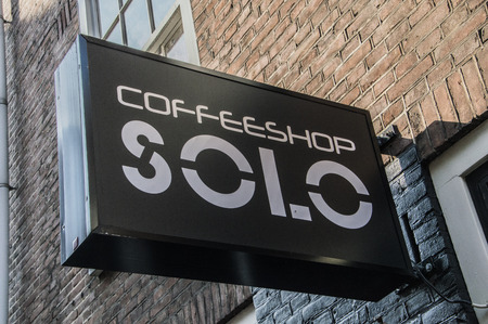 Coffeeshop Solo At Amsterdam The Netherlands 2018 Redactioneel