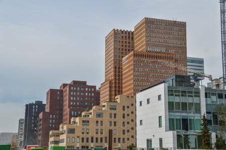 Skyscrapers At Amsterdam The Netherlands 2018 Foto de archivo - 106260035