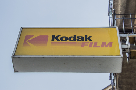Billboard From Kodak Film From A Photography Shop At Amsterdam The Netherlands 2018 Redactioneel
