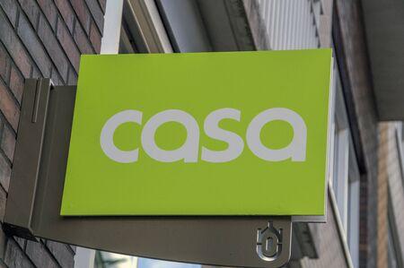 Billboard Of The CASA Shop Amsterdam Oostpoort The Netherlands 2018 Editorial