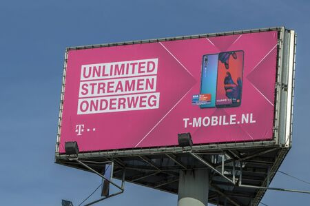 Billboard T-Mobile At Amsterdam The Netherlands 2019 Sajtókép