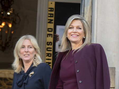 Arrival Of Queen Maxima At The Museum Van Loon At Amsterdam The Netherlands 2019