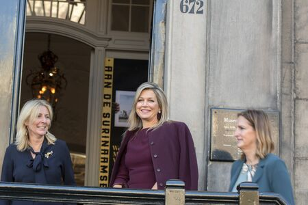 Arrival Of Queen Maxima At The Museum Van Loon At Amsterdam The Netherlands 2019 Banco de Imagens - 133075777