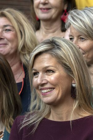 Close Up Queen Maxima At The Museum Van Loon At Amsterdam The Netherlands 2019 Editorial