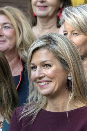 Close Up Queen Maxima At The Museum Van Loon At Amsterdam The Netherlands 2019 Banco de Imagens - 133075791
