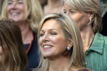 Close Up Queen Maxima At The Museum Van Loon At Amsterdam The Netherlands 2019 Closed Eyes