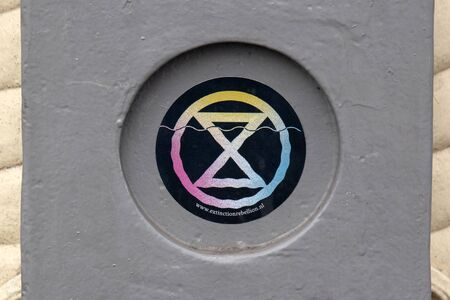 Sticker From The Extinction Rebellion Group At Amsterdam The Netherlands 2019