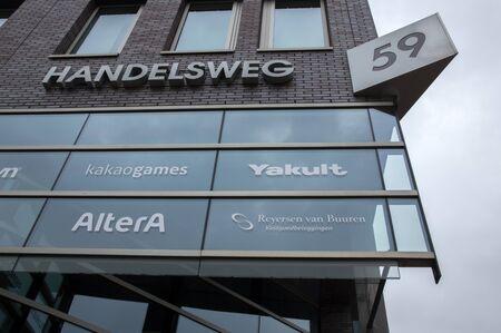 Billboard From Companies At The Handelsweg Amstelveen The Netherlands 2019 에디토리얼