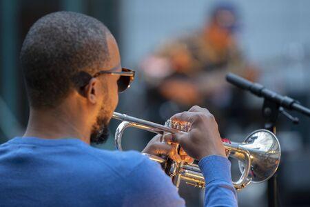 Trompettiste Heru Shabaka-Ra lors des répétitions de la pas une autre diva au Holland Festival Amsterdam Pays-Bas 2019 Éditoriale