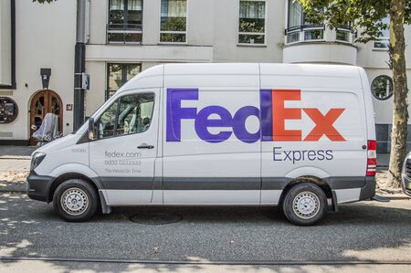 Fed Ex Van At Amsterdam The Netherlands 2018 Editorial