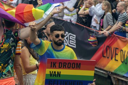 Amnesty International Boat At The Gay Pride Amsterdam The Netherlands 2019