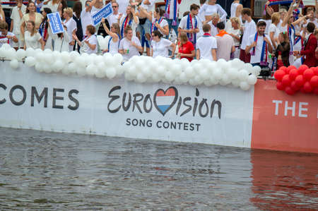 AVRO TROS Eurovision Song Boat At The Gay Pride At Amsterdam The Netherlands 2019 Editorial