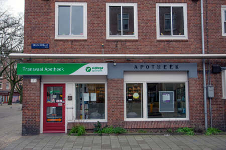 Transvaal Pharmacy Shop At Amsterdam The Netherlands 2019 Editorial