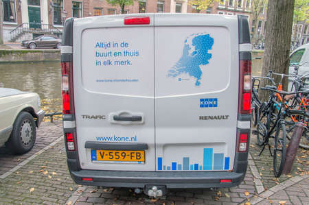 Kone Company Van At Amsterdam The Netherlands 2018