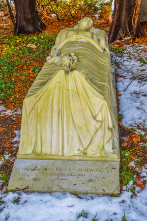 Grave Of Therese Van Duyl-Schwartze At Amsterdam The Netherlands 2018 In The Snow 2017