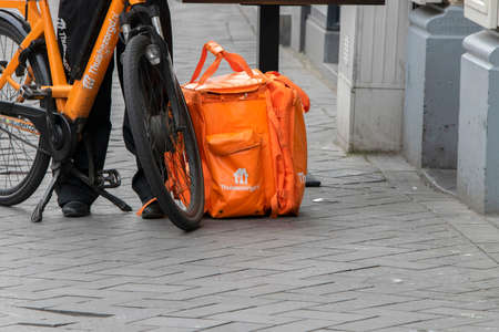 Thuisbezorgd.nl Bicycle Delivery At Amsterdam The Netherlands 2020