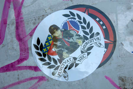 Sticker NEC Over An Ajax Sticker At Amsterdam The Netherlands 2020