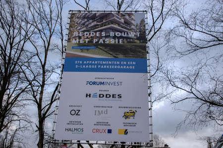 Billboard Construction Site Heddes At Amstelveen The Netherlands 2020 Sajtókép