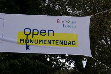 Flag Open Monumentendag At Duivendrecht The Netherlands 2019