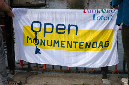 Flag Open Monumentendag At Amsterdam The Netherlands 2019