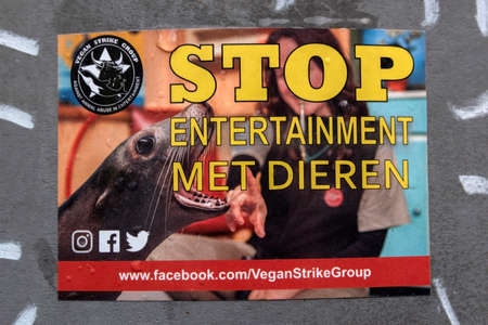Sticker Stop Entertainment With Animals At Amsterdam The Netherlands 2020