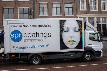 SPR Coatings De Verfgroothandel Company Truck At Amsterdam The Netherlands 2020 Publikacyjne