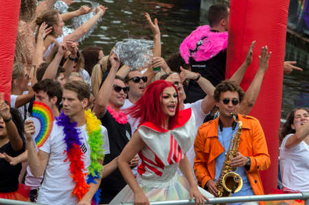 Lightspeed Boat At The Gay Pride At Amsterdam The Netherlands 2019